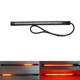 car led turn signals strips Australia - 1Pcs 48SMD Led Universal Motorcycle Car Stripe Stop Lamp Turn signal License Plate Light Waterproof Tail Brake Strip Light 12V