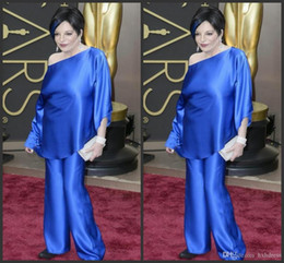 $enCountryForm.capitalKeyWord Australia - 2019 New Liza Minelli In Oscars Trousers Suits Celebrity Gowns Long Sleeves Evening Dresses Two Pieces Taffeta Plus Size Wide-legged Pants 1
