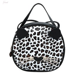 bags for cell phones christmas NZ - Cute Cat Crossbody Bags For Women Pu Leather Leopard Shoulder Bag Small Ring Handbags And Purse Mobile Phone Messenger Bag T2