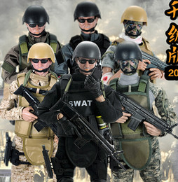 "$enCountryForm.capitalKeyWord NZ - Hot ! NEW 1pcs 12"" 1 6 SWAT Black Uniform Military Army Combat Game Toys Soldier Set with Retail Box Action Figure Model Toys"