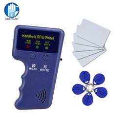 Rfid Card Copier Duplicator Australia - New 125Khz Handheld RFID Copier Card Reader Writer Duplicator Programmer + 10pcs EM4305 T5577 chip Key Card Token Tags