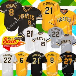 4e55e1c043e Pittsburgh 21 Roberto Clemente Pirates Jersey 8 Willie Stargell 22  McCutchen 29 Francisco Cervelli 27 Kent Tekulve 6 Marte Baseball Jerseys