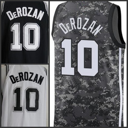 2018-2019 New Season San Antonio Mens Spurs 10 DeROZAN Jersey Gray White  Basketball Jerseys top quality in stock 4c284c438