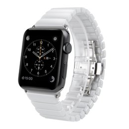 An Apple anpassen Apple Watch 3/4 Generation Keramik Schmetterling Schnalle Kettenriemen Sommer coole Kühlung Keramik im Angebot