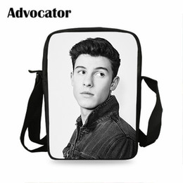 crossbody bags boys Australia - ADVOCATOR Superstar Shawn Mendes Pattern Messenger Bag for Students Teenager Boy Backpack Crossbody Bags for Kids Mochila
