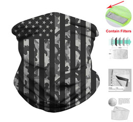 face masks wholesalers Canada - Newest USA Scarf Bandanas Neck Gaiter with Safety Carbon Filter Cycling Face Mask Cover Windproof Dustproof Headwear 39 Styles Free DHL B64F