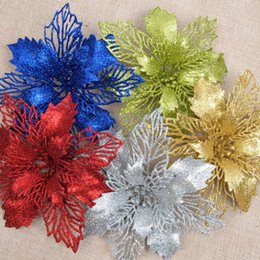 hanging flower props Australia - Double Christmas Flowers Christmas Pendant Ornaments for Decoration Hanging Ornaments Props Accessories