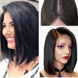 lace wigs african american hair Australia - hot new Long straight natural looking hair glueless lace front wi& full hair lace wig for african americans woman12-28inch heat resistant