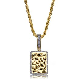 bullion chain NZ - Gold Bullion Pendant Necklace For Men 2019 New Fashion Brand Jewellery Ice Out Gold Plated Hip Hop Jewelry Necklace