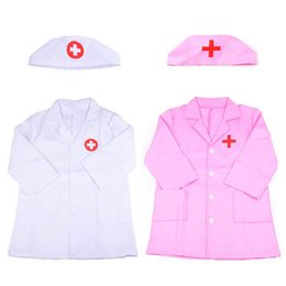 Wholesale 1 Set Children s Clothing Role Play Costume Doctor s Overall White Gown Nurse Uniform Educational Doctor Toy For Kids Gift