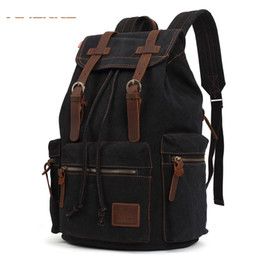 Kaukko New Fashion Men s High Quality Vintage Rucksack Bag Canvas Computer Laptop  Travel Bags Large Capacity Backpack For School 4b1cdd46fe1fe