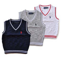 Ingrosso 2019 alta qualità di modo nuovo marchio per bambini maglione vestiti del bambino primavera / autunno / inverno ragazzi e ragazze bambini polo tuta sportiva maglioni gilet