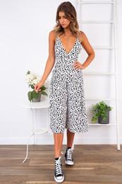 V Neck Long Jumpsuit Romper Australia - 2019 Summer Women Fashion Dot Print Jumpsuit Sexy V Neck Spaghetti Long Romper Casual High Street Holiday Playsuits