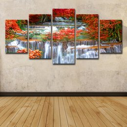 tropical paintings NZ - 5 Piece HD Printed Tropical Sunset Paradise Group Painting Room Decor Print Poster Picture Canvas Free Shipping