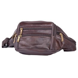 100% echtes Leder Taille Packs Gürteltasche Gürteltasche Handytasche Taschen Reise Hüfttasche Männlich Kleine Taille Tasche im Angebot