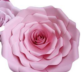 $enCountryForm.capitalKeyWord UK - New Creative Wedding Ceremony Decoration Rose 3D Display Window Manual Flowers Thickening Cardboard Paper Flower Multi Color
