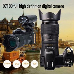 Electronic Professionals NZ - POLO D7100 HD Digital Camera 33Million Pixel Auto Focus Professional SLR Video Camera 24X Optical Zoom Three Lens