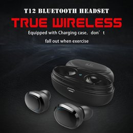 $enCountryForm.capitalKeyWord NZ - One piece T12 TWS Bluetooth V5.0 Earphones In-Ear True Wireless Earbuds Stereo Sound Mini Bluetooth Headsets Dual Microphone Calls