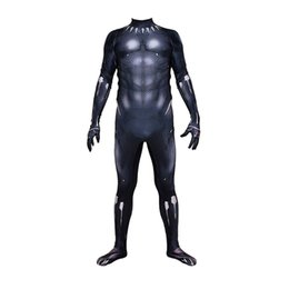 $enCountryForm.capitalKeyWord Australia - Unisex Cosplay Costume 3D Muscle Halloween Black Moive Superhero Lycar Spandex High Quality Zentai Bodysuit Party Plugsuit Catsuit Jumpsuit