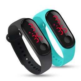 $enCountryForm.capitalKeyWord Australia - 10 Colors Touch LED Screen Display Date Digital Sport Casual Silicone Strap Men Women Wristband Kids Gift Bracelet Watch Clock
