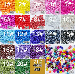 Factory wholesale 2,3,4mm round color DIY glass beads Fit vsco friendship bracelets jewelry accessories loose beads on Sale