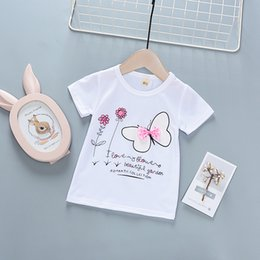 Children White Tees Australia - good quality summer girls t-shirt cotton letter short sleeve o-neck tops for children kids clothes causal bebe girls outfits tees