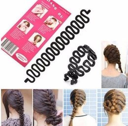 Ladies Hair Rollers Australia - 1 Pcs Women Lady French Hair Braiding Tool Braider Roller Hook With Twist Styling Bun Maker Band Accessories