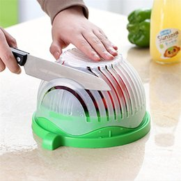 salad cutters Australia - Creative Salad Cutting Bowl Salad Fruit Vegetable Cutter Quick Salad Maker Chopper Cutter Washer 60 Second