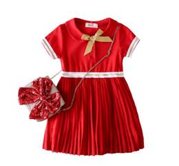 $enCountryForm.capitalKeyWord UK - Girls cotton chiffon dress fashion stitching dress dress summer hot T-shirt short-sleeved casual round neck shirt