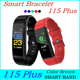 Wholesale call id resale online - Waterproof Plus Color Screen Bracelet Smart Wristbands Sports Heart Rate Blood Pressure Monitor Activity Tracker watch ID Plus Band