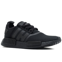 classic leather golf shoes NZ - NMD R1 Primeknit Runner Top Quality Running Shoes Classic Triple Black White Red Camo Oreo Cream Women Athletics Sports Sneakers US 5-11