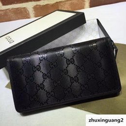 $enCountryForm.capitalKeyWord Australia - New Top Quality Luxury Celebrity Design Letter Embossing Zipper Wallet Cards Pack Cowhide Leather Black 307987 Long Purse Clutch