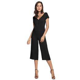 European Style Green Jumpsuit NZ - 2019 European famous designer new design hot sale fashion personality Paris style solid color shoulder strap backless fashion jumpsuit casua