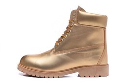 Womens Cowboy Ankle Boots Australia - BEST QUALITY PRICE TIMBELAND BOOT 10061 ALL GOLD MENS WOMENS COW LEATHER WATERPROOF WORK BOOTS COWBOY 6INCH FOOTWEAR WITH FREE QUICK EXPRESS