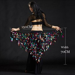 sexy big hips 2019 - Women belly dance clothes sexy big sequins belly dance scarf lady accessories girls waist belt hip scarf cheap sexy big