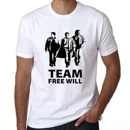$enCountryForm.capitalKeyWord Australia - Will t shirt Supernatural short sleeve tees Team free tops Fadeless print clothing Pure color colorfast modal tshirt