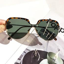 designer sunglasses dark lenses 2019 - Retro Small Oval Frame Sunglasses Mens Womens Dark Green Lens Mirror Vintage Leopard Shades Brand Designer pilot Sun Gla