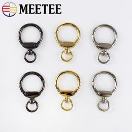 metal spring hooks NZ - Meetee 20pcs 23mm Metal Hook Keychain Buckle Spring Key O Ring Buckle DIY Bag Decoration Hanging Crafts Accessories BF029