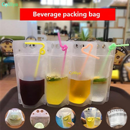 $enCountryForm.capitalKeyWord Australia - Transparent Self-sealed Plastic Beverage Bag Drink Milk Coffee Container Drinking Fruit Juice bag Food Storage Bag