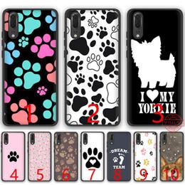 $enCountryForm.capitalKeyWord Australia - dog footprint Paw Soft Silicone Black TPU Phone Case for Huawei P8 P9 P10 P20 Lite Pro P Smart Cover