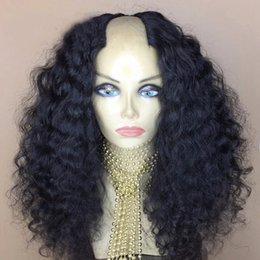 $enCountryForm.capitalKeyWord Australia - U Part Wig 2x4 Middle Opening For Women Water Wave 150 Density Brazilian Remy Human Hair U Part Wig With Straps &Combs