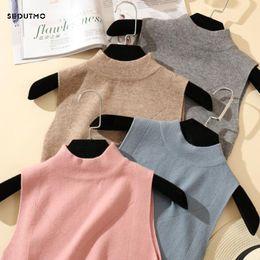$enCountryForm.capitalKeyWord Australia - Sedutmo 2018 Summer Knitted Tank Women Camis Sleeveless Autumn Turtleneck Sweater White Halter Top Ed261 J190622