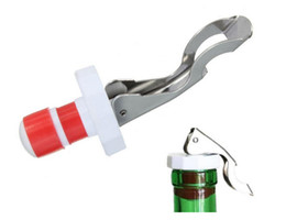 beer bottle stoppers UK - Multifunctional Beer Red Wine Tool Stainless Steel Bottle Opener&silicone Cork Wine Stopper Creative Kitchen Accessories LZ1252