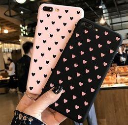 Love Heart Phone Australia - Love Heart Case For Iphone 6 6s Plus Phone Case For Iphone X 8 7 6 Plus 5 5s Se Matte Hard Pc Back Cover Case