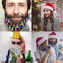 $enCountryForm.capitalKeyWord Australia - 16x Christmas Beard Ornaments Facial Hair Baubles Round Bulb Clips Christmas Santa Claus Beard Decoration for Men Xmas Decor