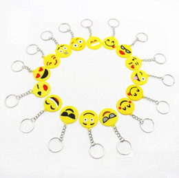 $enCountryForm.capitalKeyWord Australia - 2019 Baby Shower Cute Emoji Keychain Birthday Party Decorations Kids Gift BabyShower Boy Girl Children's Party Favors Supplies