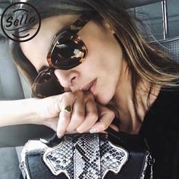 c354e593e0b Sella New Fashion Women Men Oversized Cateye Sunglasses Brand Designer  Thick Frame Gradient Lens Retro Triangle Sun Glasses
