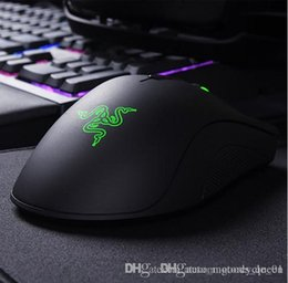 razer mouse games Canada - Factory direct sell razer deathadder chroma symphony 1600dpi USB wired optical Razer mouse computer game mouse with retail package car