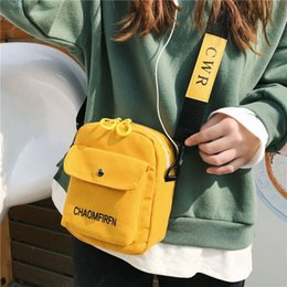 crossbody bags boys Australia - Fashion Canvas Crossbody Cell Phone Pouch Travel Purse Shoulder Bag for Unisex 2019 Bags for Boys and Girls