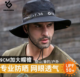 sun blocks Australia - Adult outdoor hat summer sun shade sun block ultraviolet ray man fisherman hat fishing waterproof quick dry breathable Europe and America